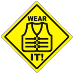Personal flotation devices help save lives. Wear it!